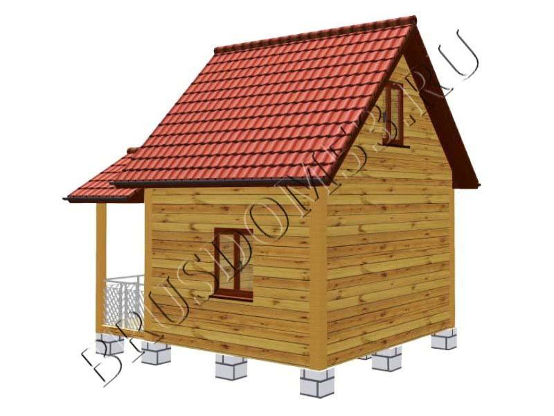 Дома 5х4 из бруса проекты