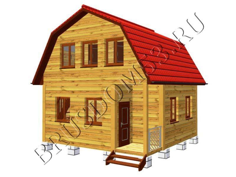 Каркасный дом 6х6 из бруса своими руками