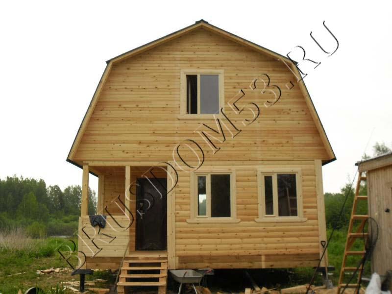 Дом из бруса с мансардой своими руками
